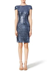 Stormy Skies Sheath by Badgley Mischka