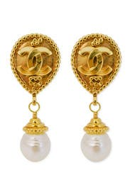 Vintage Chanel Pearl Drop Earrings by Decades Vintage