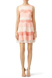 Peach Beckley Dress by ERIN erin fetherston