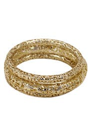 Crackled Gold Bangle Set by Kendra Scott