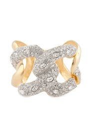 Polished Gold Links Cuff by Kenneth Jay Lane