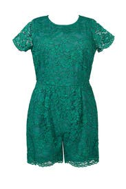 Scalloped Lace Romper by ELOQUII