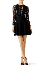 Black Lace Reed Dress by Blumarine