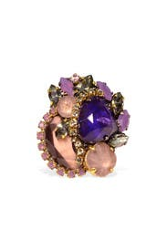 Amethyst Collage Ring by Erickson Beamon
