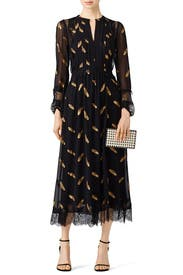 Gold Leaf Printed Maxi by The Kooples