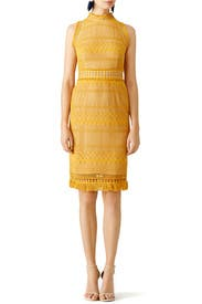 Shoshanna yellow dress