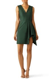 Plunge Neck Draped Slit Dress by J. Mendel
