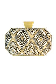 Saar Raffia Minaudiere by Badgley Mischka Handbags