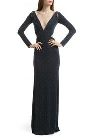 Studded Jersey Cutout Gown by Z Spoke Zac Posen