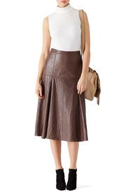 Taupe Leather Skirt by Halston Heritage for $120   Rent the Runway