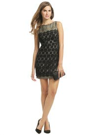 Black Lace Combo Dress by Milly