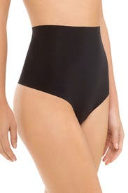 Black High-Waist Control Thong by Commando