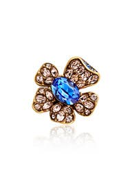 Indigo Bloom Ring by Oscar de la Renta