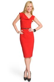 Red Jackie O Dress by Black Halo