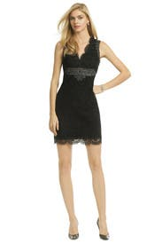 Noir Spark My Interest Dress by Anna Sui
