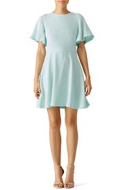 Mint Flutter Dress by Shoshanna