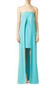 Aqua Font Gown by Slate & Willow