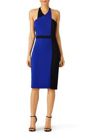Cobalt Colorblock Sheath by Badgley Mischka