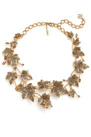 Russian Gold Ivy Necklace by Oscar de la Renta