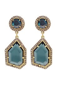 Blue Ice Crystal Earrings by Badgley Mischka Jewelry