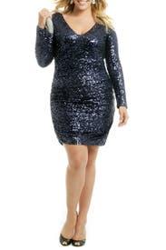 Blue Martini Splash Dress by Badgley Mischka