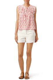 Pink Valentina Top by Rebecca Taylor