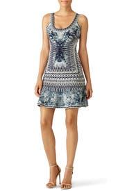 Spearhead Print Dress by Hervé Léger