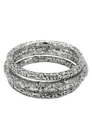 Crackled Silver Bangle Set by Kendra Scott
