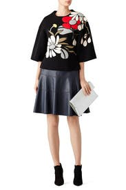 Black Floral Printed Top by Marni