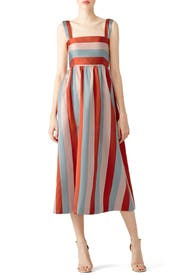 ... Multi Striped Midi Dress by RED Valentino ...