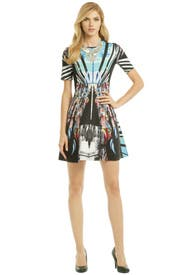 Moscow Mixup Dress by Clover Canyon