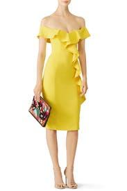 Yellow Gatlin Dress by Jay Godfrey
