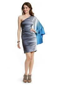 Aqua Ombre Dress by Nicole Miller
