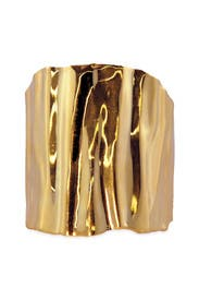 Gold Ripple Effect Cuff by Tom Binns