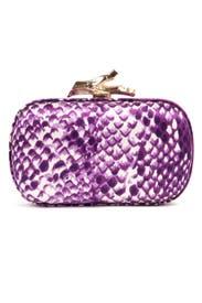Thai Purple Snake Clutch by Diane von Furstenberg Handbags
