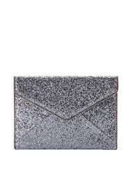 Silver Leo Clutch by Rebecca Minkoff Accessories