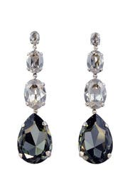 Smokey Crystal Drop Earrings by Janis Savitt