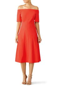 Vermillion Red Structured Crepe Dress by Tibi for $55 - $75 | Rent ...