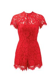 Red Lindsey Romper by Alexis