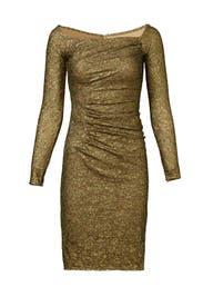 Gold Idol Dress by Carmen Marc Valvo