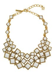 Multi Diamond Mosaic Necklace by Oscar de la Renta