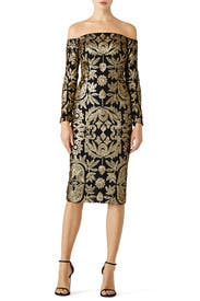 Sequin Egyptian Dress by Nicole Miller