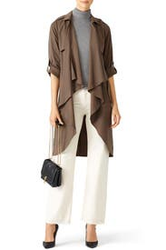 Brown Morning View Jacket by Lovers + Friends