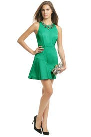 Green Wave Dress by Milly