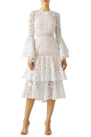White Lace Luxe Dress by Alexis