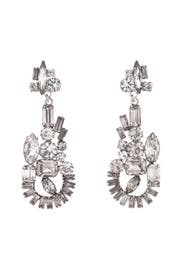 Abstract Crystal Chandelier Earrings by Tom Binns