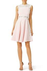 Pink Daisy Cut Out Dress by Giambattista Valli
