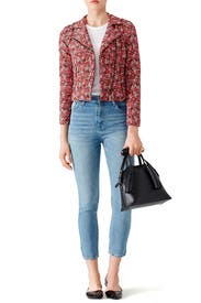 Red Floral Frona Jacket by Joie