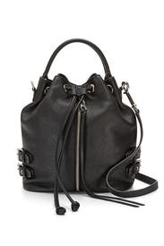 Black Moto Bucket Bag by Rebecca Minkoff Handbags