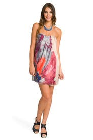 Strapless Flower Burst Dress by Tibi